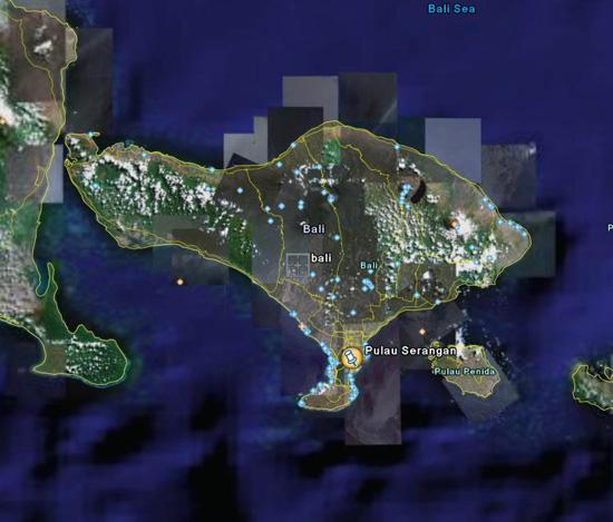 Pulau Bali Song Bali Via Google Earth Pulau
